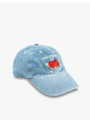 Koton Koton Kadın Mavi Şapka Mavi